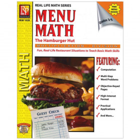 Menu Math: The Hamburger Hut Book, Multiplication & Division