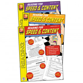 Reading for Speed & Content 3-Book Set