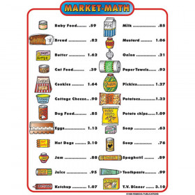 Market Math for Beginners, 6 Extra Price Lists, Grades 1-3