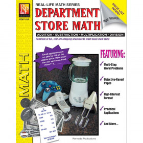 Department Store Math Activity Book, Grades 4-8