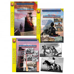 Daily Literacy Activities: American History Complete Set of 3 Titles