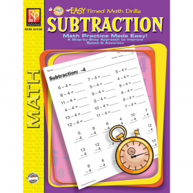 Subtraction Easy Timed Math Drills Book