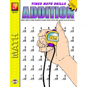 Addition Timed Math Drills Book