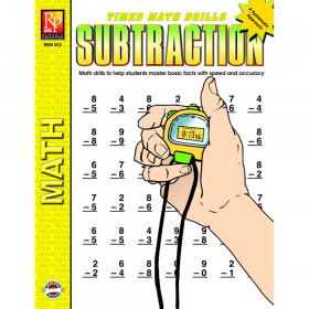 Subtraction Timed Math Drills Book