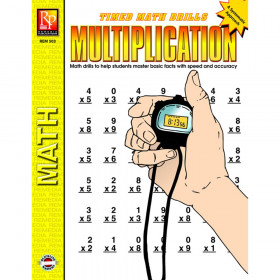 Multiplication Timed Math Drills Book
