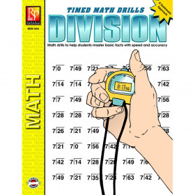 Division Timed Math Drills Book