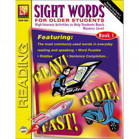 Sight Words For Older Students Book 1