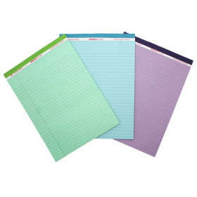 Legal Pad, Standard, Assorted 3-Pack (Orchid, Blue, and Green)
