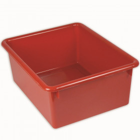 5In Stowaway Letter Box Red No Lid 13 X 10-1/2 X 5