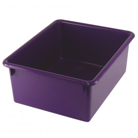 5In Stowaway Letter Box Purple No Lid 13 X 10-1/2 X 5