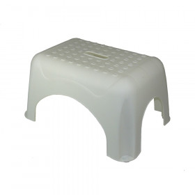 Step Stool White 17.5X12.25X9.25