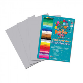 Pearl Gray Construction Paper 12X18 50 Sheets