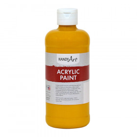 Acrylic Paint 16 oz, Deep Yellow