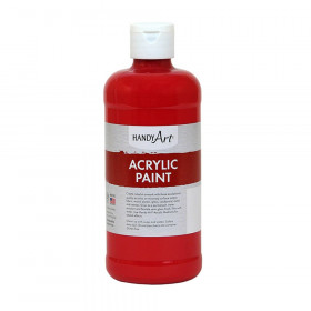 Acrylic Paint 16 oz, Brite Red