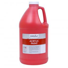 Acrylic Paint Half Gallon, Brite Red