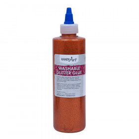Washable Glitter Glue, 8 oz., Orange