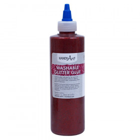 Washable Glitter Glue, 8 oz., Red