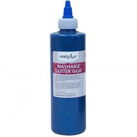 Washable Glitter Glue, 8 oz., Blue