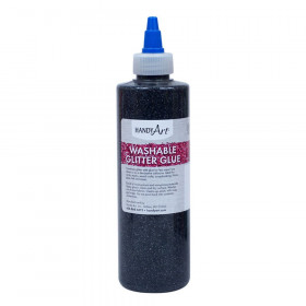 Washable Glitter Glue, 8 oz., Black