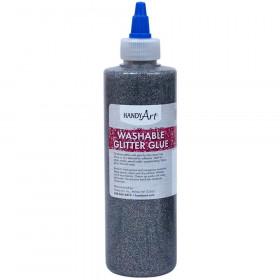 Washable Glitter Glue, 8 oz., Multi-Color