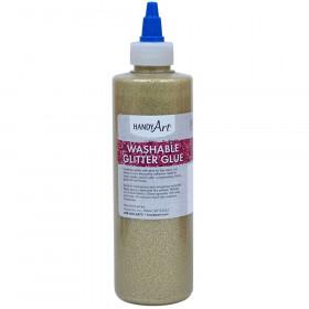 Washable Glitter Glue, 8 oz., Gold