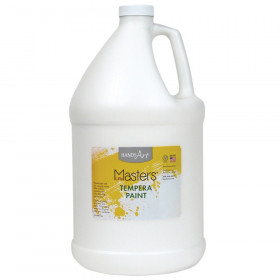 Little Masters Tempera Paint, White, Gallon