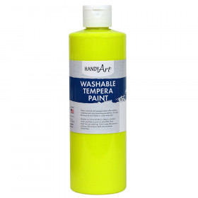 Little Masters Washable Tempera Paint, Fluorescent Yellow, 16 oz.