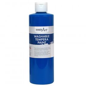 Little Masters Washable Tempera Paint, Fluorescent Blue, 16 oz.