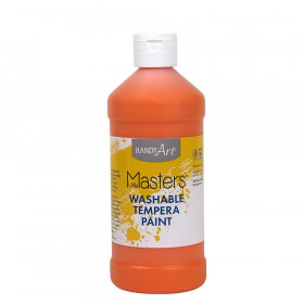 Little Masters Orange 16Oz Washable Paint