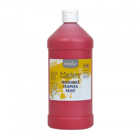 Little Masters Washable Tempera Paint, Red, 32 oz.
