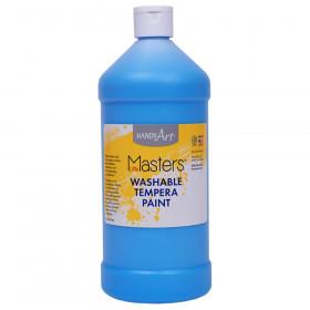 Little Masters Washable Tempera Paint Quart, Light Blue