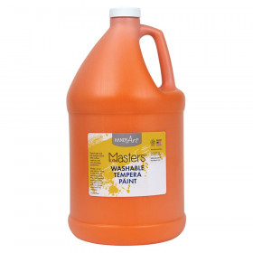 Little Masters Washable Tempera Paint, Orange, Gallon