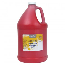 Little Masters Washable Tempera Paint, Red, Gallon