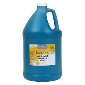 Little Masters Washable Tempera Paint, Turquoise, Gallon