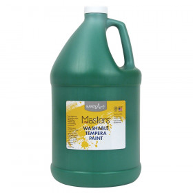 Little Masters Washable Tempera Paint, Green, Gallon
