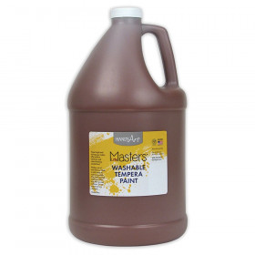 Little Masters Washable Tempera Paint, Brown, Gallon