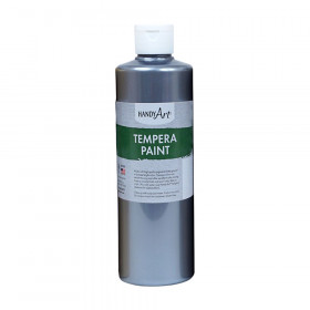 16Oz Metallic Silver Tempera Paint Handy Art