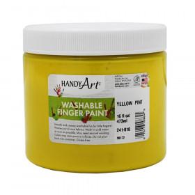 Handy Art by Rock Paint Washable Finger Paint, Yellow, 16 oz