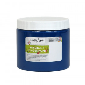 Handy Art by Rock Paint Washable Finger Paint, Blue, 16 oz