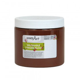 Handy Art by Rock Paint Washable Finger Paint, Brown, 16 oz