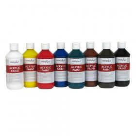 Acrylic Paint, 8oz, Primary 8-Color Set