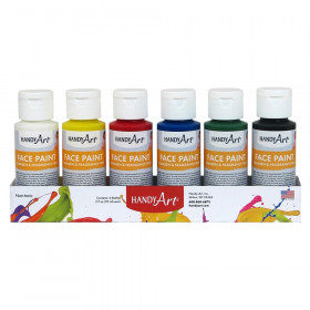 Handy Art 2Oz 6/Set Washable Face Paint Kit Bottles