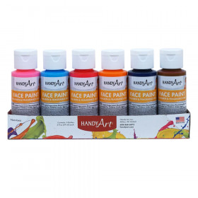 6Pk Washable Face Paint Kit Handy Art