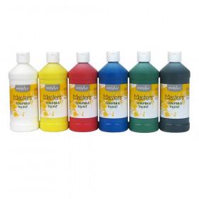 Little Masters Tempera Paint, Pint, 6-Color Kit