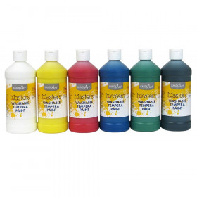 Little Masters Washable Tempera Paint, Pint, 6-Color Kit