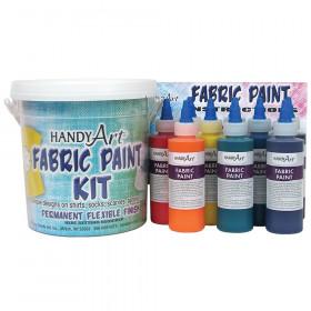 Fabric Paint Kit, Regular Colors, 4 oz. Bottles, 9 Count