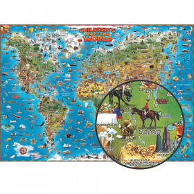 "Children's Map Of The World, 54"" x 38"""