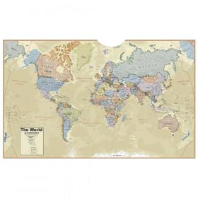 Hemispheres Boardroom Series World Laminated Wall Map
