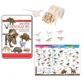 Wonders of Learning Tin Set, Discover Dinosaurs