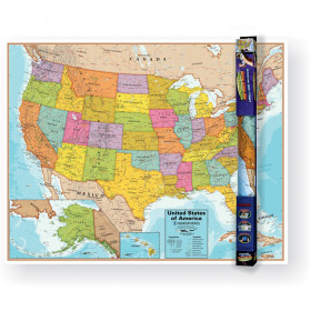 United States Wall Chart with Interactive App